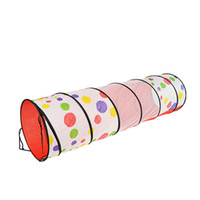 Wholesale Pop Tunnel - Wholesale-Free Shipping 1.8M Dots Play Tunnel Pop-up educational Toy Tent Child Play Tent Tunnel Discovery Tube Best Kids' Gift H&L