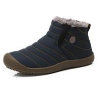 erkekler için en sıcak ayakkabılar toptan satış-Erkekler Kış Erkek Ayakkabı Düz Renk Kar Botları Pamuk Antiskid Alt Sıcak Su Geçirmez erkek Botları Tutmak, boyutu 45,46