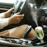 araba için hava kokusu toptan satış-Yeni Sıcak Yüksek Kalite Araba Tak Hava Nemlendirici Arıtma, Araç uçucu yağ ultrasonik nemlendirici Aroma sis araba parfüm Difüzör