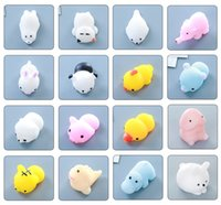 Wholesale Finish Rabbits - Animal Squishies Mochi Squeeze Toys Soft Squishy Stress Animal Toys Kawaii Animal Squishy Mini Slow Rising Seal Rabbit Duckling Cat Tiger