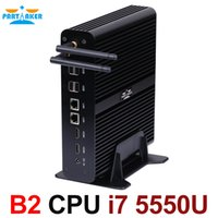 Wholesale Thin Clients China - Embeded Mini PC Thin Client Computer Case i7 5550u with Dual HD Dual COM Dual Lan