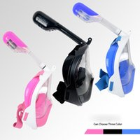 Wholesale Snorkel Free Shipping - 2016 Easy Breath Full Face Mask Surface Diving Snorkel Scuba for GoPro Swim L XL Free Shipping