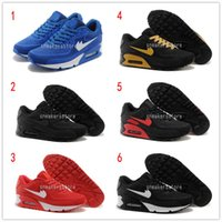 Wholesale Leather Hot Tops - [With Original Box]2016 Hot Sale Max 90 Men Running Shoes Top Quality New Classical Cheap Sneakers maxes 90 Cushion Sports Shoes US6-11