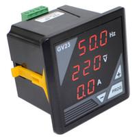 medidores de generador al por mayor-Al por mayor-BC-GV23 Generador de medidor digital de CA frecuencia de voltaje medidor de corriente del panel del probador envío gratuito con número de pista 12002873