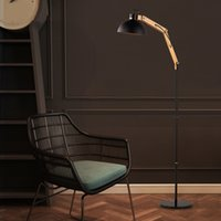 Barato Loja De Café Da Europa-American Simple LOFT Living Room Bedroom Study Decoração personalizada Northern <b>Europe Coffee Shop</b> Iron Art Floor Lamp