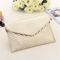 Wholesale Golden Tote - Day Clutch Women Leather Evening Tote Bags Handbag Change Purses Wallet Ladies Crossbody Messenger Shoulder Bag Golden