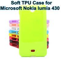 fälle für lumia großhandel-Wholesale-Silikon-Weichgel-TPU-Abdeckung Fall für Nokia Microsoft Lumia 430 N430 Fall Abdeckung