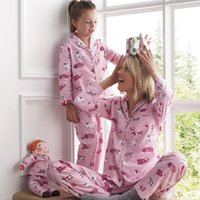 Wholesale Mother Pig - Family Pajamas Christmas Clothing Sets Mother Daughter Pajamas Long Sleeve Pig Printing Clothes Family Clothing Parent-Child Set