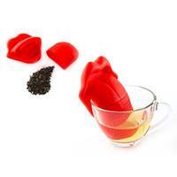 Wholesale Tongue Shape - Tongue Shape Silica Gel Tea Infuser Coffee Tea Kitchen Tools Coffee Set Home Decoration Creative Tea Strainer