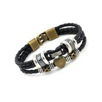 Wholesale Leather Wrap Friendship - Fashion PU Leather Wrap Bracelets Wristband Handmade Multilayer Woven Bracelets Hearts Beaded Charm bracelets Friendship bracelets Unisex