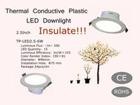 Isolare!!! Conservazione Engergy 2,5 pollici Thermal Conductive Plastic LED Downlight 220V 6W