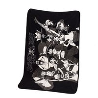 Wholesale Cute Japan Fabric - Anime One Piece Blanket Cute Coral Fleece Blankets Cosplay Summer Conditional Air Blanket Throw Towl Home Decor