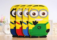Wholesale Despicable Ipad - 3D Despicable Me Cartoon Soft Silicone Gel Rubber Case Cover Cute Big Eye Minions for Ipad mini 2 3 4 5 air