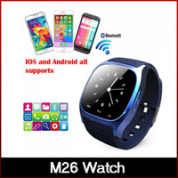 Wholesale Newest S4 Phone - Newest Bluetooth Smart Watches M26 Watch for iPhone 6 4 4S 5 5S Samsung S5 S4 Note 3 HTC Android Phone freeshipping