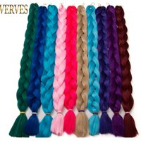Wholesale Wholesale Synthetic African Hair - VERVES Synthetic Braiding Hair 82 inch unfold 165g pcs Braid Bulk African Hair style Crochet Hair extensions, yaki texture