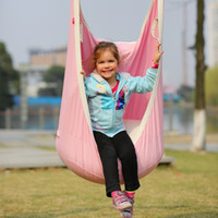 Wholesale Garden Hammock Chairs - Garden Swing For Children Baby Inflatable Hammock Hanging Swing Chair Kids Indoor Outdoor Pod Swing Seat Sets Children toy