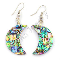 Wholesale Natural Abalone Shell Drop Earrings Oval Hollow Ear New Fashion Charms Accessories Silver Plated Fashion Jewelry For Women