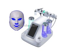 Wholesale Cold Jet - 7 IN 1 Hydrafacial Hydro Dermabrasion Oxygen Jet Peel Ultrasound Multipolar RF BIO Face Lift Cold Hammer LED Facial Mask 7 Colors Skin Care