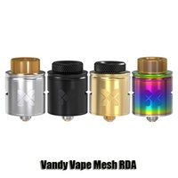 Wholesale Wire Mesh Wholesalers - 100% Original Vandy Vape Mesh RDA Atomizer Vandyvape Invisible Clamp Style Postless Deck Tank Compatible With Mesh Wire Standard Coils