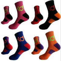 Wholesale Elite Socks Wholesale - mens brand new cotton thick bottom towel Deodorant movement male socks high KD elite basketball football soccer sports crew sock terry socks