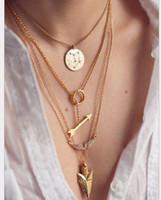 Wholesale Fashion Jewelry Multi Layered Chains - Women Fashion Necklaces Lady Multi-layered Necklace Girl Multi-layered Necklaces Big Girl Jewelry Popular Multi Layered Necklace