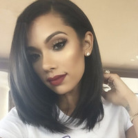 Wholesale 8A Cheap Glueless Full Lace Wigs For Black Women Natural Color Brazilian Human Hair Wigs Silk Straight Human Hair Wigs With Baby Hair