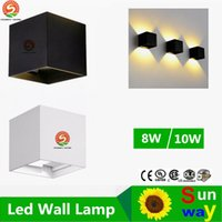 Wholesale Dimmable Led Wall - Dimmable COB 8W 10W IP65 Adjustable Surface Mounted Outdoor Cube Led Wall Lamp Led Outdoor Wall Lamp Up and Down Indoor Wall Light
