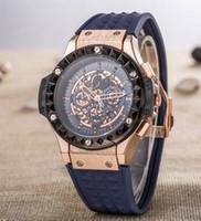 Wholesale Fast Calendar - Fast delivery 2017 New designer Fashion big bang men's rubber quartz watch Racing watch Wristwatches Brand 3 models