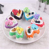 Wholesale Magnets Items - Lovely pet Free Shipping Small Heart-Shaped Cakes Bread Pastry Food High Simulation Model Decor Items Refrigerator Magnet squishy packages