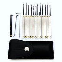 Wholesale Key Extractor Tool - Hot sale high quality The Controller 12pcs Lock extractor Stainless Handles with Bag Removing Key Set Lock pick Tools Lock Opener BK101