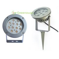 ingrosso luci spot spot-DC / AC12V LED Garden Spike Luce 12W Path Light LED luci di inondazione White Lawn Spot luci LED Landscape Light 60 ° 6pcs