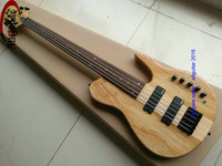 2016 Nuove 5 corde BASS Fretless Bbumm Chitarra One piece Natural Fretless Bass2 pickup attivi Basso cinese basso China bass