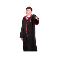 Wholesale Children Classic Movies - Classic Harry Potter Robe Gryffindor Cosplay Costume Child Adult Harry Potter Robe Cloak Halloween Costumes for kids
