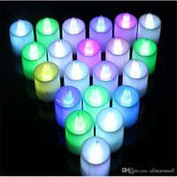 240pcs / lot hotsale 5 цветов светодиодные свечи Shaped Small Flashing Night Light Change Candle holiday Decoration
