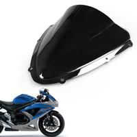 escudos de bolha venda por atacado-Nova dupla bolha pára brisas escudo para Suzuki GSXR600 / 750 2008 2009 2010 K8
