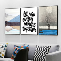 Wholesale Picture Canvas Sizes - Three paintings of modern Nordic family decorative painting wall art painting poster size 40cmx50cm free shipping