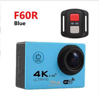Wholesale action color - RF 2.4 Remote Control 4K 30FPS Sport DV H12R 30M Waterproof Action Camera WIFI Control 2.0'' Display Sport Camera 6-color 1pcs