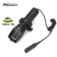 Wholesale Waterproof Tactical Flashlights - G700 E17 Tactical white led hunting Pistol flash light torch CREE T6 LED light zoomable led Waterproof Flashlight+scope mount+Remote Switch