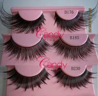 Wholesale Cheap Human Hair Lashes - Thick Long False Eyelashes faux human hair eyelashes cheap extremely false eye lashes Eye Lashes Voluminous Makeup
