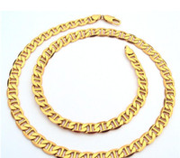 Wholesale Mariner Gold Chain - Wholesale - Thin 14k Gold Mens Mariner Link Anchor Chain Real Necklace 600mm 100% real gold, not solid not money.