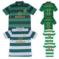 6fa19d364 SINCLAIR Home Green White Soccer Jersey 17 18 DEMBELE Away Soccer Shirt  2018 Customized BROWN GRIFFITHS Football Uniform Sales ...