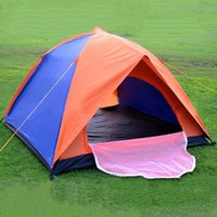 Wholesale Camping Tents For Sale - Hot Sale Classic Tents Camping Tent Double Walls 2 Exits Tent UV Protection Tents Mixed Color For 2-3 People Use