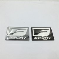 Emblème De Voiture De Gt Pas Cher-3D Metal F sport Fport Emblem Chrome Badge Side Logo Sticker auto autocollant pour Toyota GT 86 Yaris Lexus IS ISF GS RX