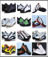 Wholesale White Casual High Low Dress - High Quality Fashion Luxury Hombre Party Shoes DSQ Genuine Leather Casual Low Top Shoes DSQ2 Men Shoe Flats Wedding Dress Sneakers D2 Shoes