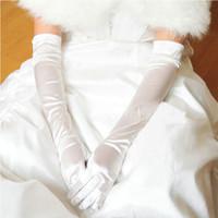 Wholesale Dinner Dance - Korean Version Of Long Gloves High Elasticity Etiquette Gloves Drive Sunscreen Dancing Dinner Show Silk Cloth Female Gloves