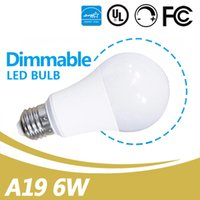 Led Bulbs Forma del globo E26 Dimmable 6W A19 Lampadina principale Lampadina decorativa UL Energy Star Listed