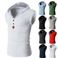 футболки для бодибилдинга оптовых-Wholesale-Mens Tank Top Light Grey Hip Hop Outdoor ym Bodybuilding Clothing Sleeveless T-Shirt Men Tank Top Colete Masculino