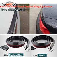 Wholesale Mazda Series - Hot selling 1.5M Car decorative strips Carbon Fiber PU Car Rear Roof Tail boot trunk Spoiler Wing Lip Stickers Kit For fit all car series