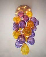 novo festival luzes decorativas venda por atacado-Modern New Design Festival Luz Decorativa Pendurado Bolas De Vidro Lustre com Mão Soprado Murano Vidro AC 110/120/220/240 V