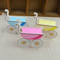 Wholesale Baby Pram Favor Boxes - 1000pcs Pram Candy Box Baby Carriage Favor Boxes Baby Shower Party Gifts Box Brand New Good Quality WA1981